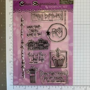 🏵 Hampton Art 🏵 Clear Expressions Stamps Set